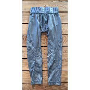 NIKE Pro Boys Cropped Compression Leggings Pants S